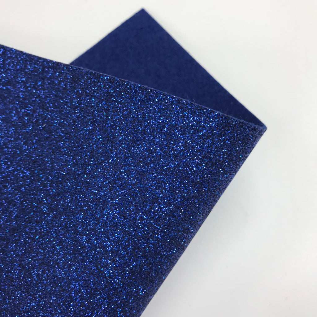 Royal Blue Glitter Felt - Jolif The Craft Shop
