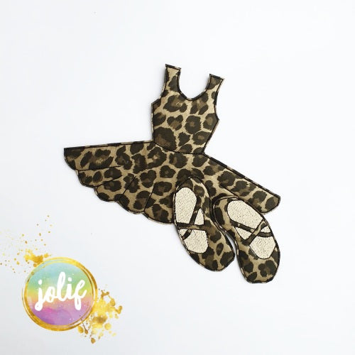 Leopard Print Dress Bow Holder