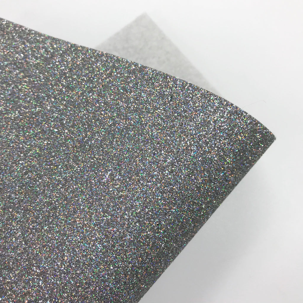 Holographic Silver Glitter Felt - Jolif The Craft Shop