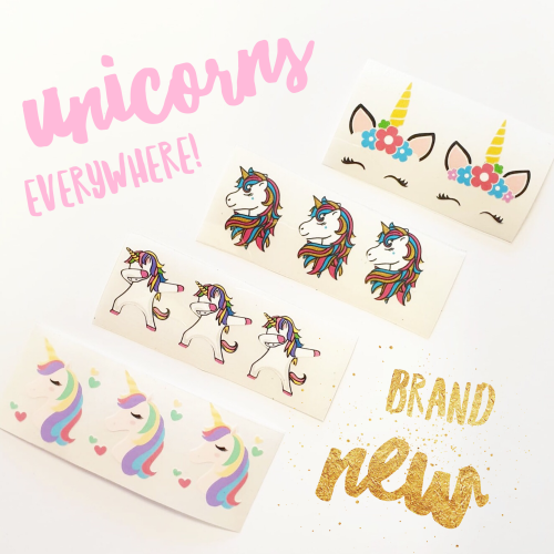 Unicorns.. Everywhere! Colourful Vinyls - Jolif The Craft Shop