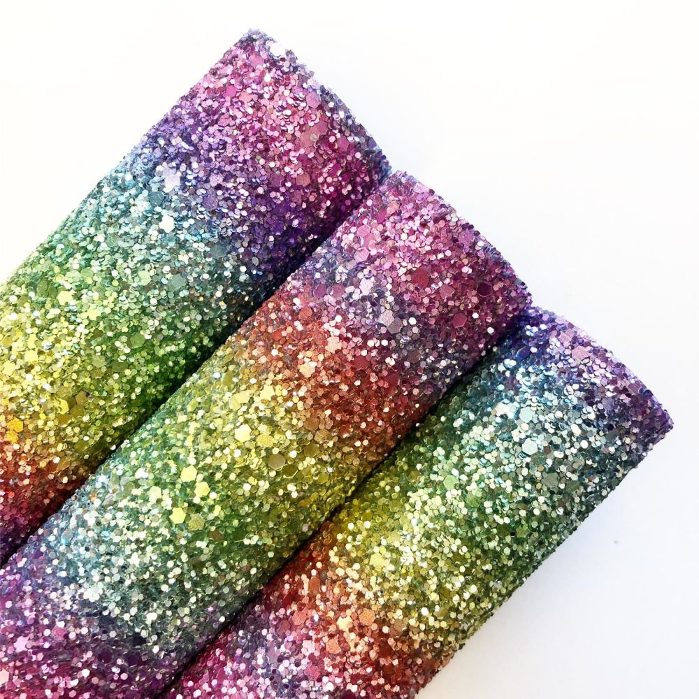 True Rainbow Chunky Glitter - Jolif The Craft Shop