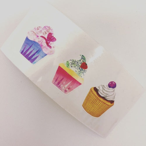 Sweet Cupcake Colourful Vinyls - Jolif The Craft Shop