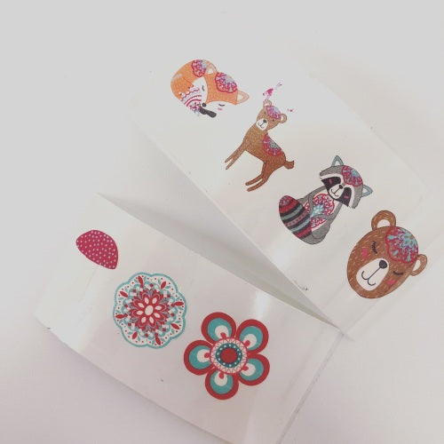 Woodland Creatures Colourful Vinyls - Jolif The Craft Shop