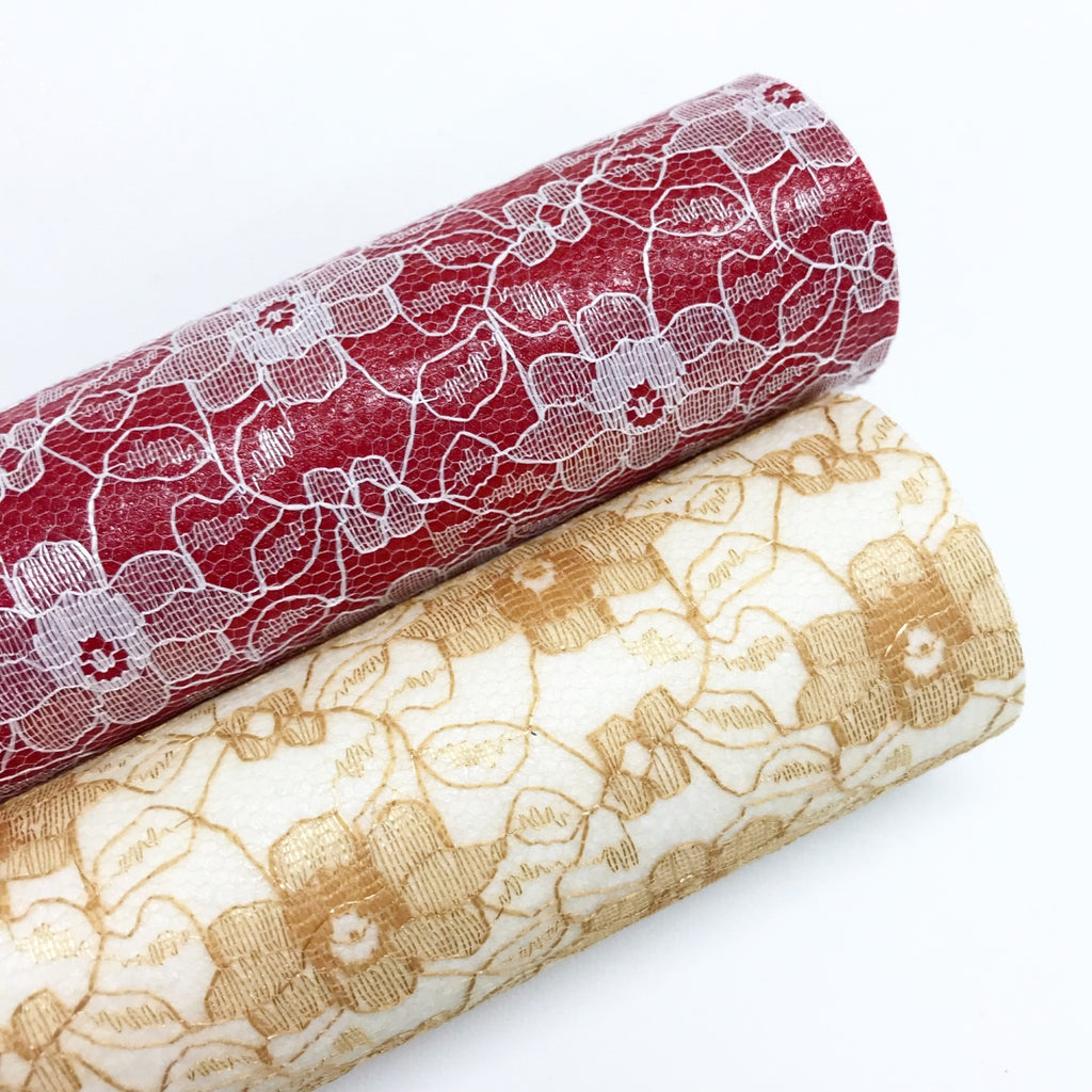 Red & Gold Lace - Jolif The Craft Shop