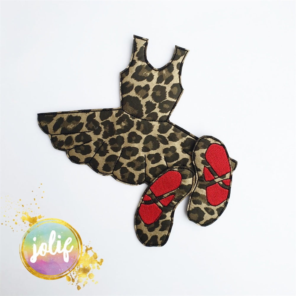 Leopard Print Ballet Girl Bow Holder