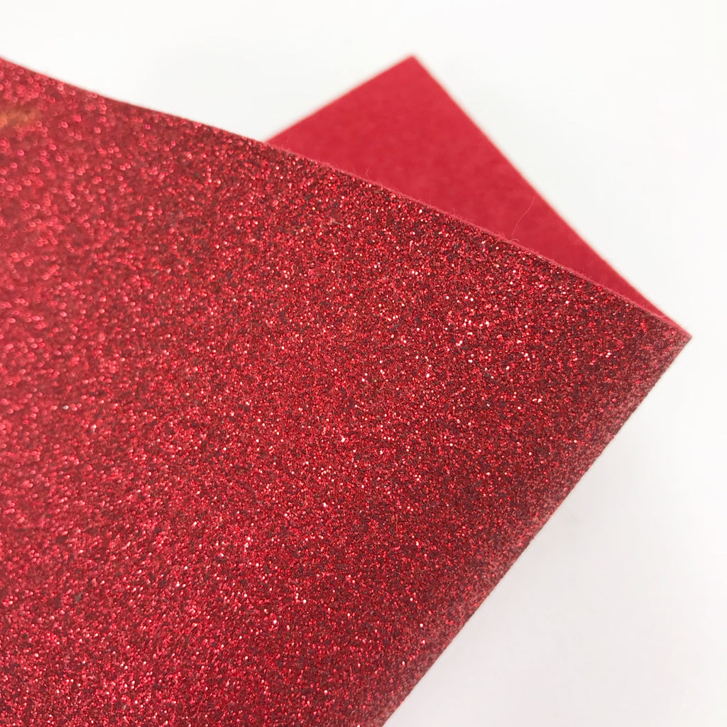 Red Glitter Felt - Jolif The Craft Shop