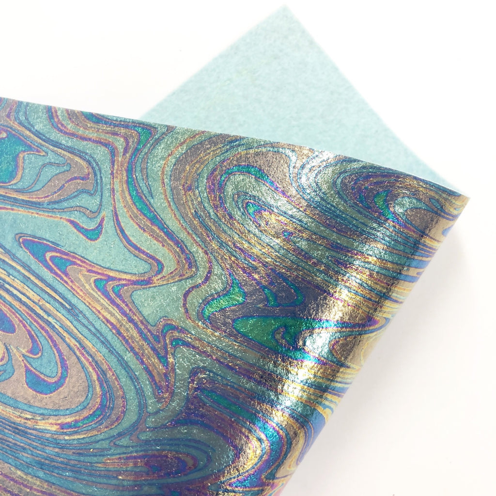 Oil Slick Metallic Felt
