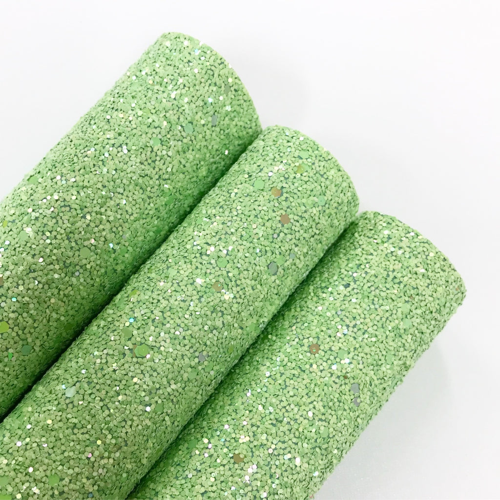 Pastel Green Chunky Glitter - Jolif The Craft Shop