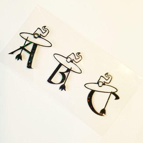 Witchy Letter Vinyls - Jolif The Craft Shop