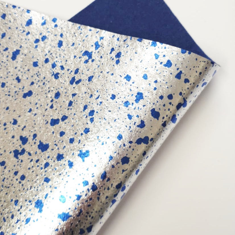 Metallic Blue Splat Felt