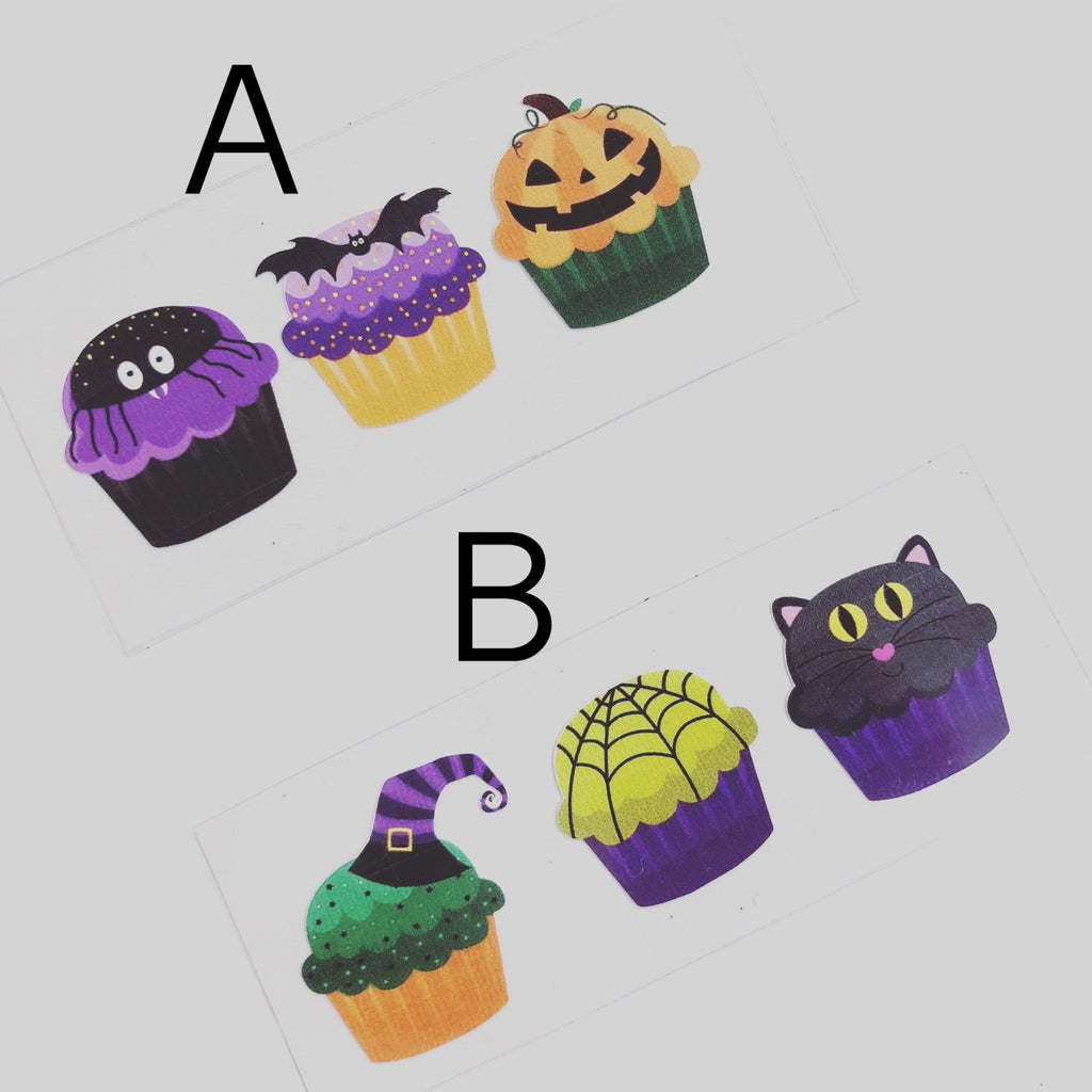 Halloween Cupcake Colourful Vinyls - Jolif The Craft Shop