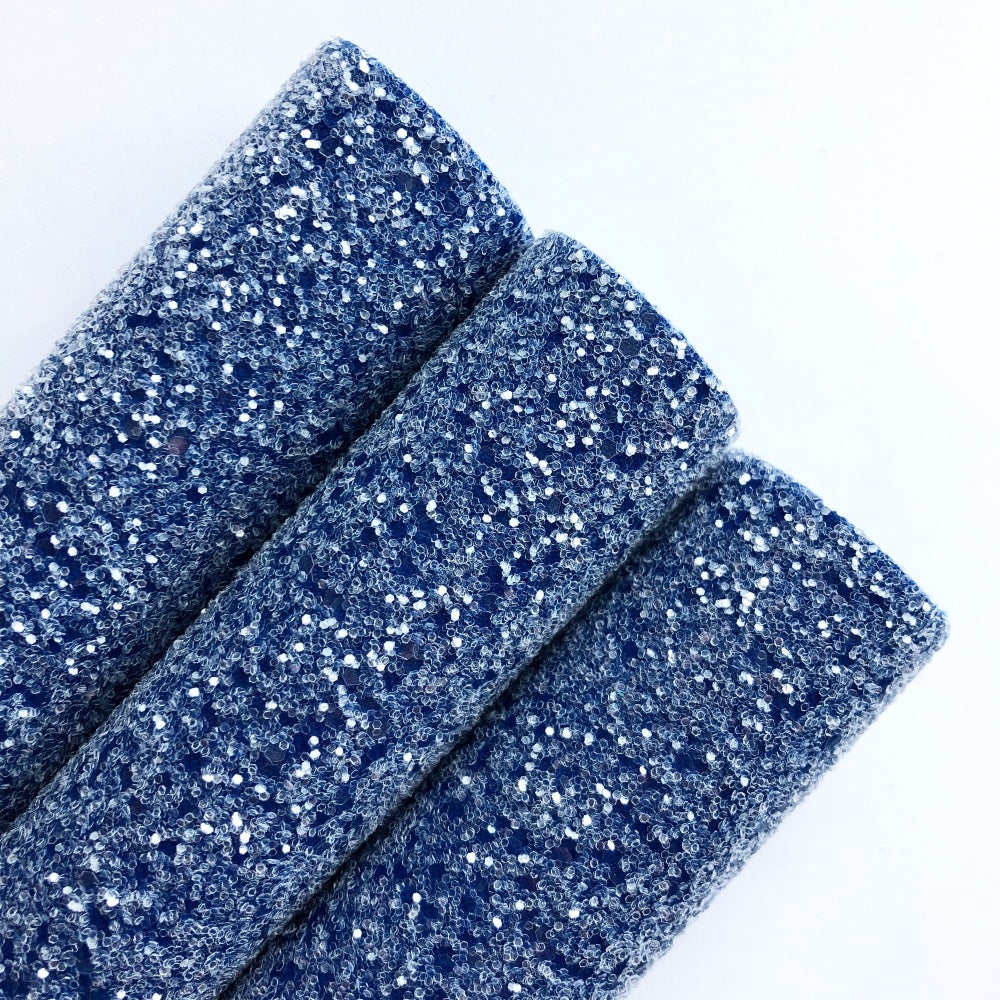 Denim Blue Chunky Glitter - Jolif The Craft Shop