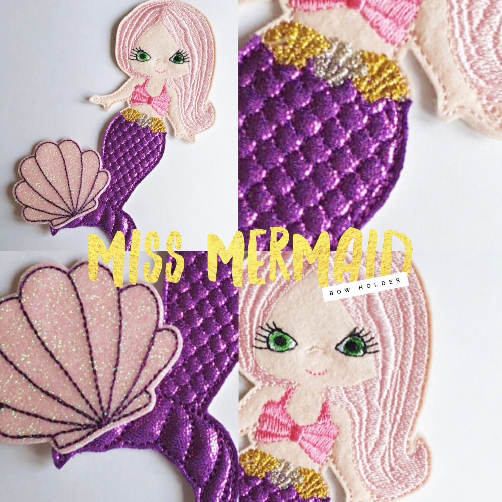 Miss Mermaid Bow Holder