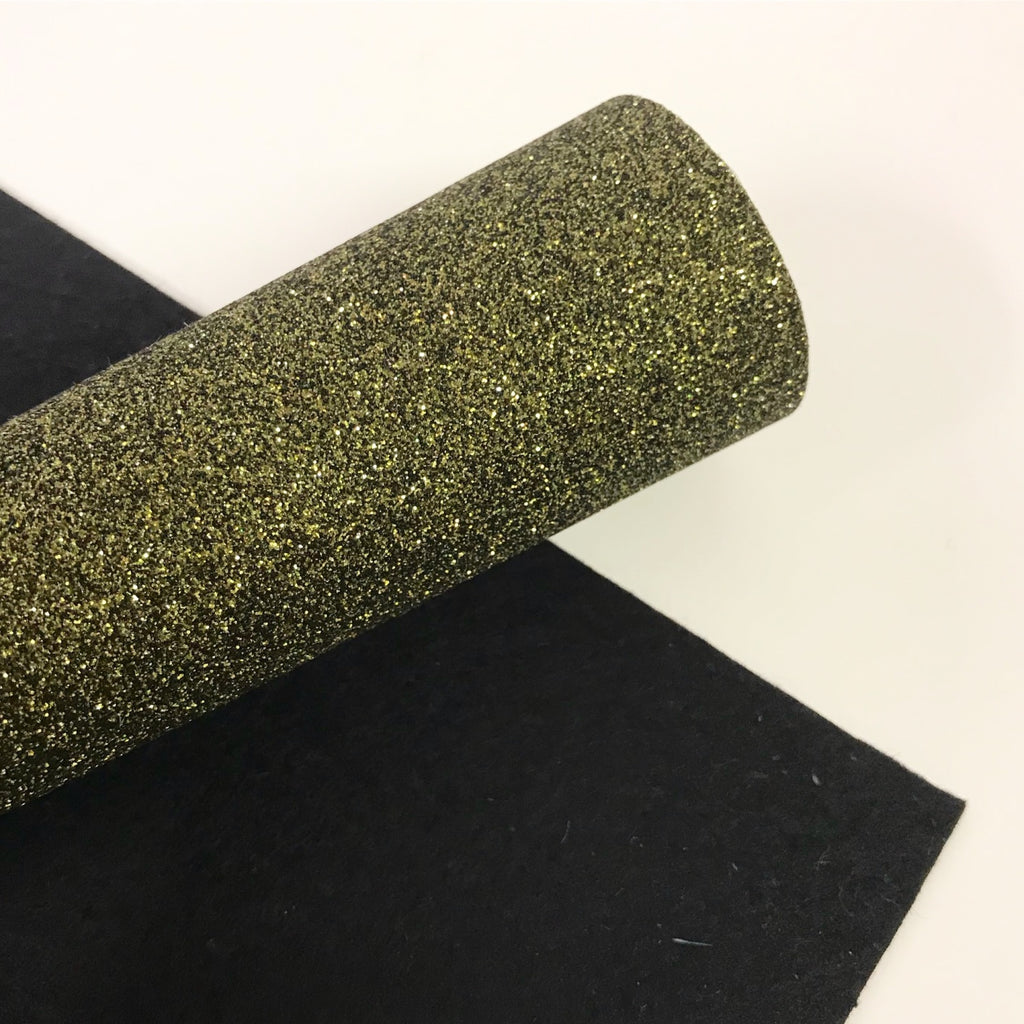 Khaki Glitter Felt - Jolif The Craft Shop