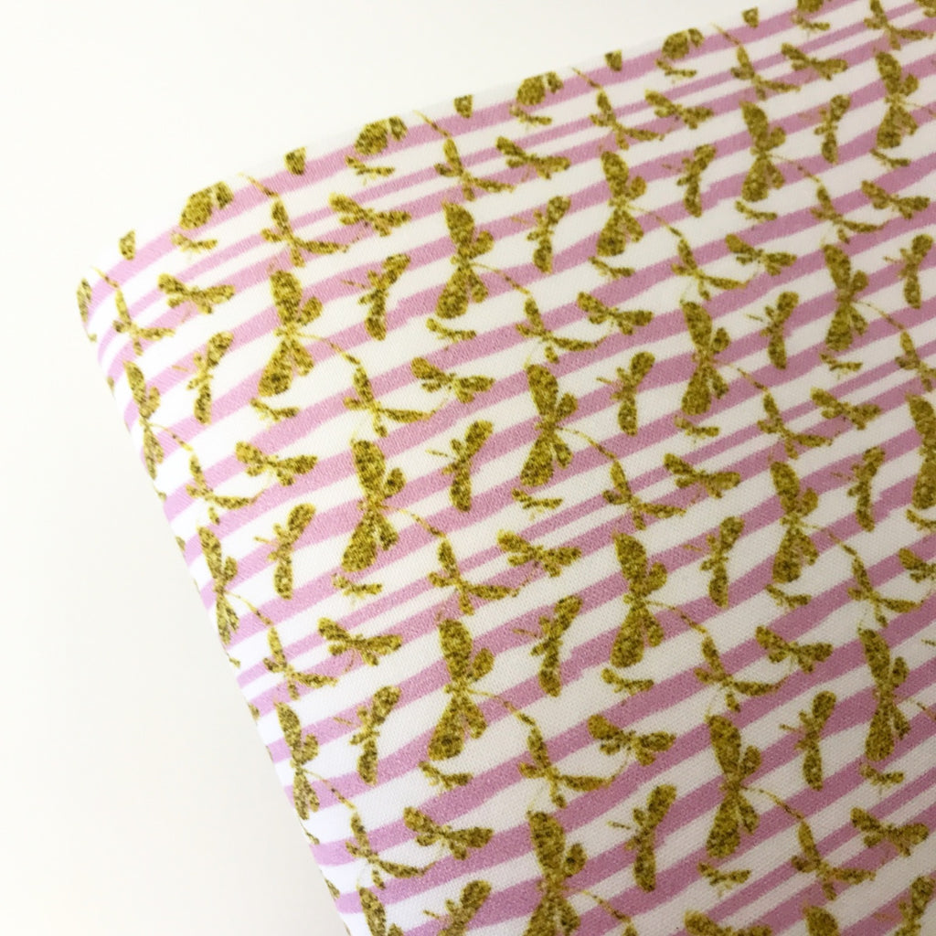 Golden Dragonflies Fabric Felt - Jolif The Craft Shop