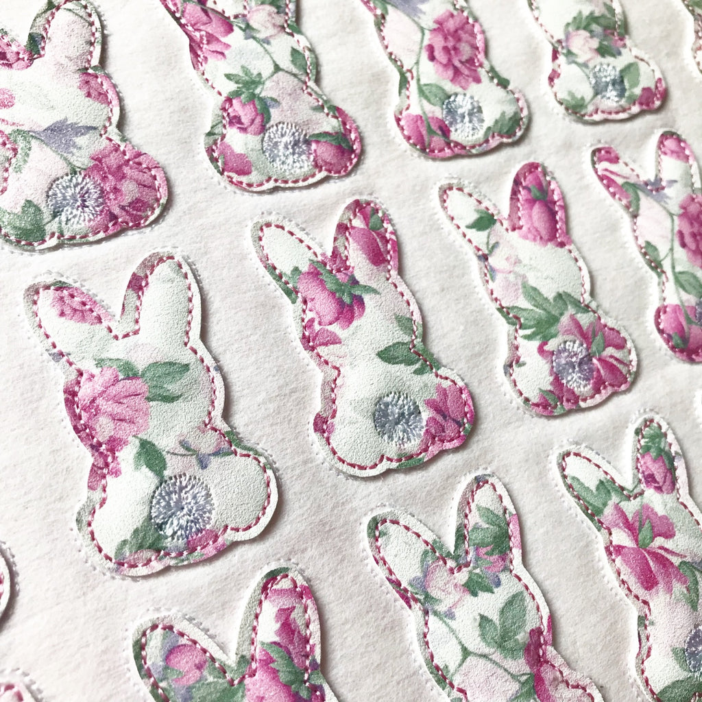 Floral Bunny Silhouette Felties