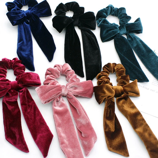 Velvet Scrunchie Bows - Jolif The Craft Shop