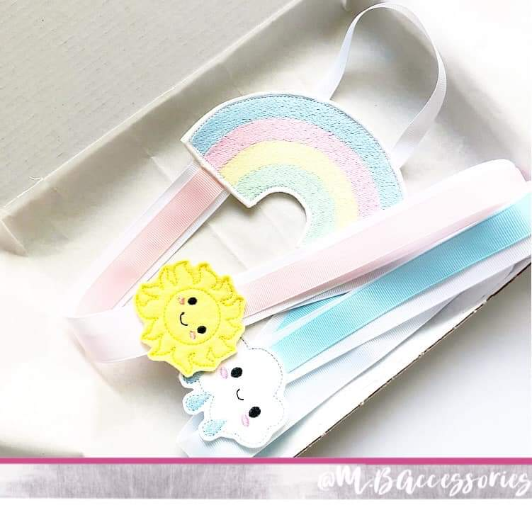 Rainbow Bow Holder - Jolif The Craft Shop