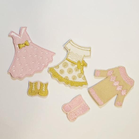Dress Me Pretty Girl Bow Holder Including Outfit Set - Jolif The Craft Shop