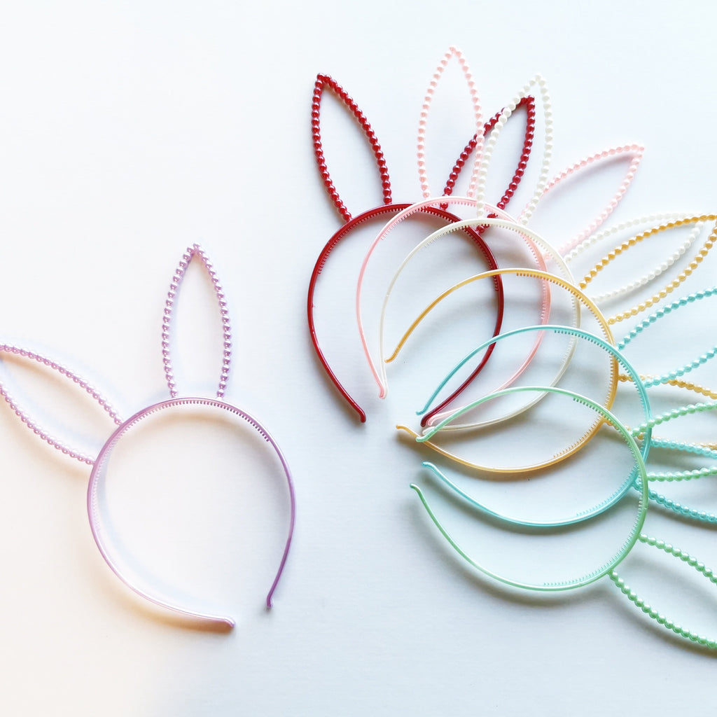 Pearl Bunny Ear Headbands - Jolif The Craft Shop