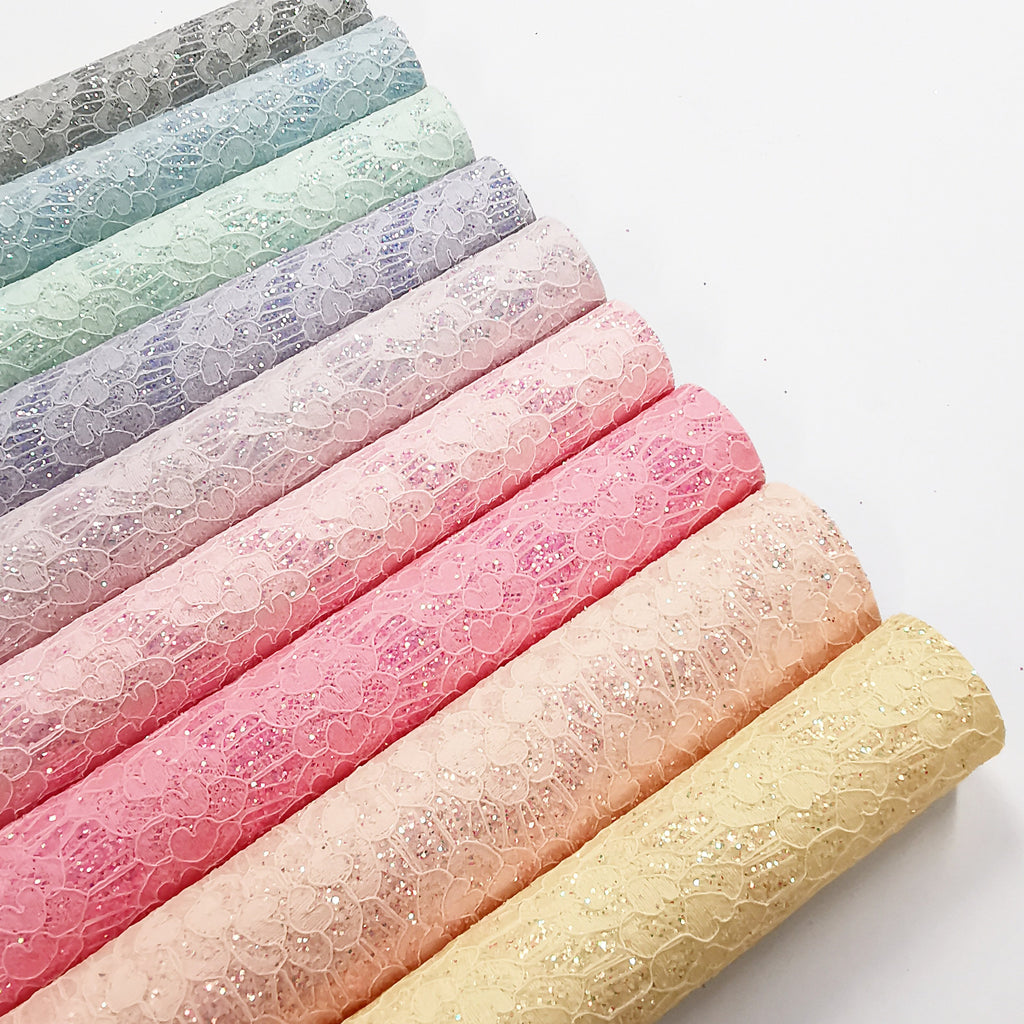 Pastel Lace Glitters - Jolif The Craft Shop
