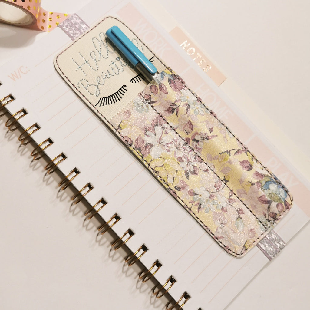 Hello Beautiful Embroidered Pen Holder - Jolif The Craft Shop