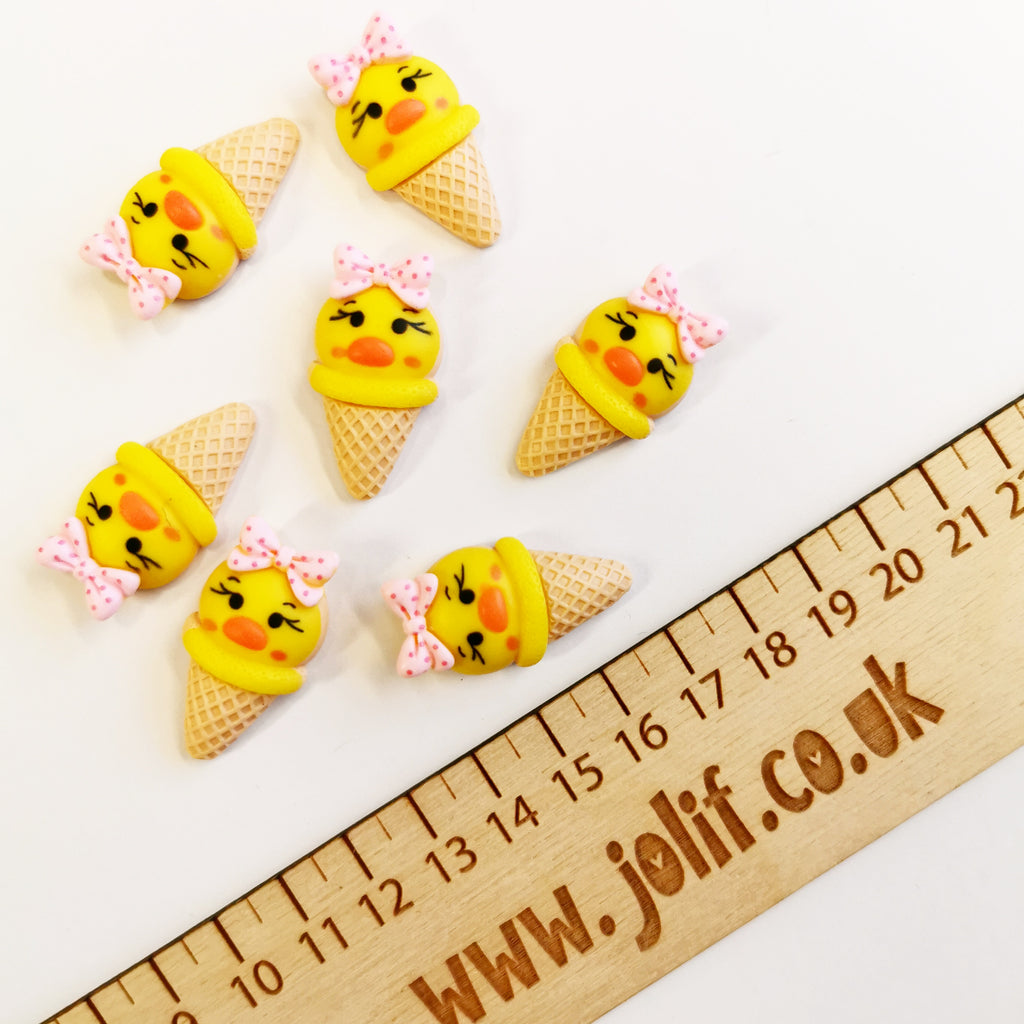 Easter Chick Ice-Cream Cone Embellishments