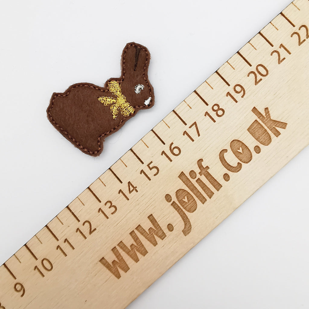 Chocolate Bunny Felties - Jolif The Craft Shop