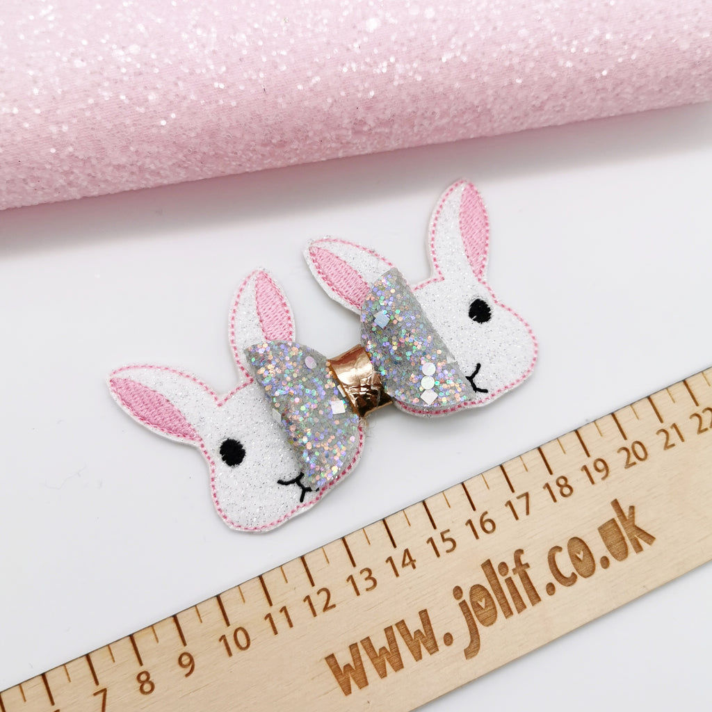 Peek-a-boo Glitter Bunny Tails - Jolif The Craft Shop