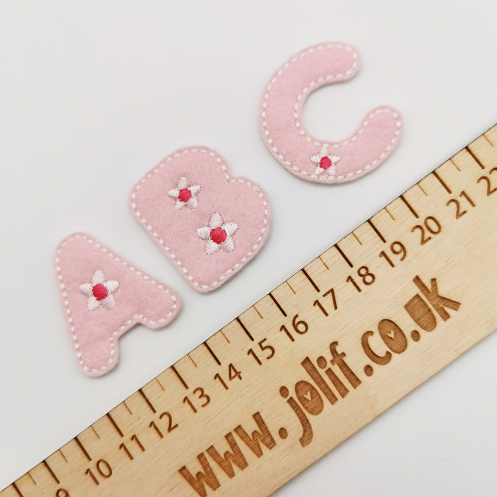 Floral and Heart Alphabet Felties - Jolif The Craft Shop