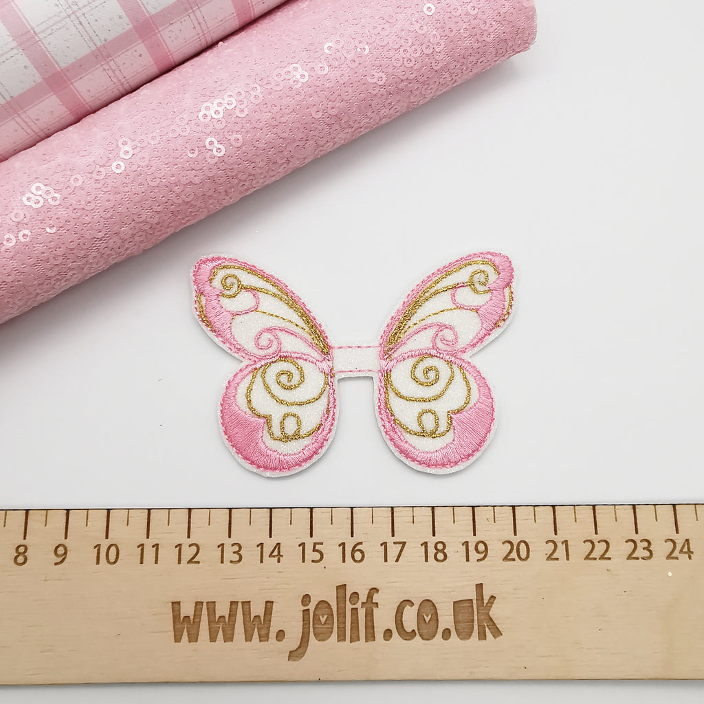 Elegant Butterfly Embroidered Top and Tails - Jolif The Craft Shop