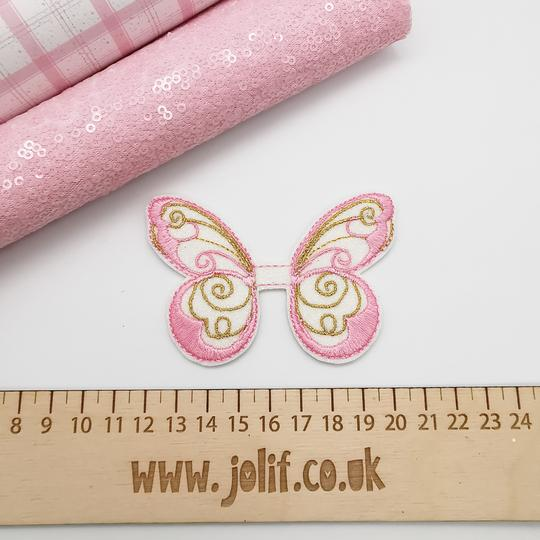 Elegant Butterfly Bow Topper Embroidery File - Jolif The Craft Shop