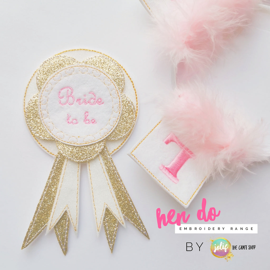 Bride to Be Embroidered Badge - Jolif The Craft Shop