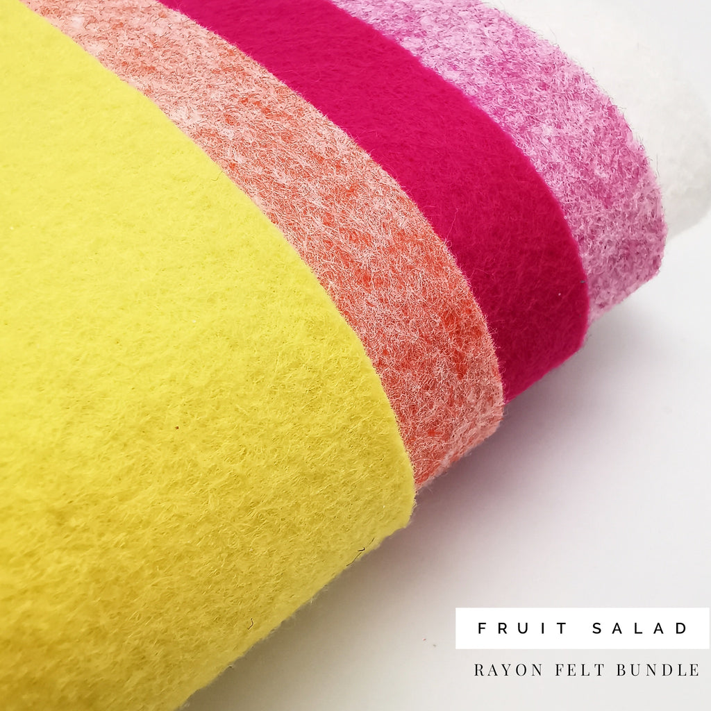 Fruit Salad Felt Bundle - Jolif The Craft Shop