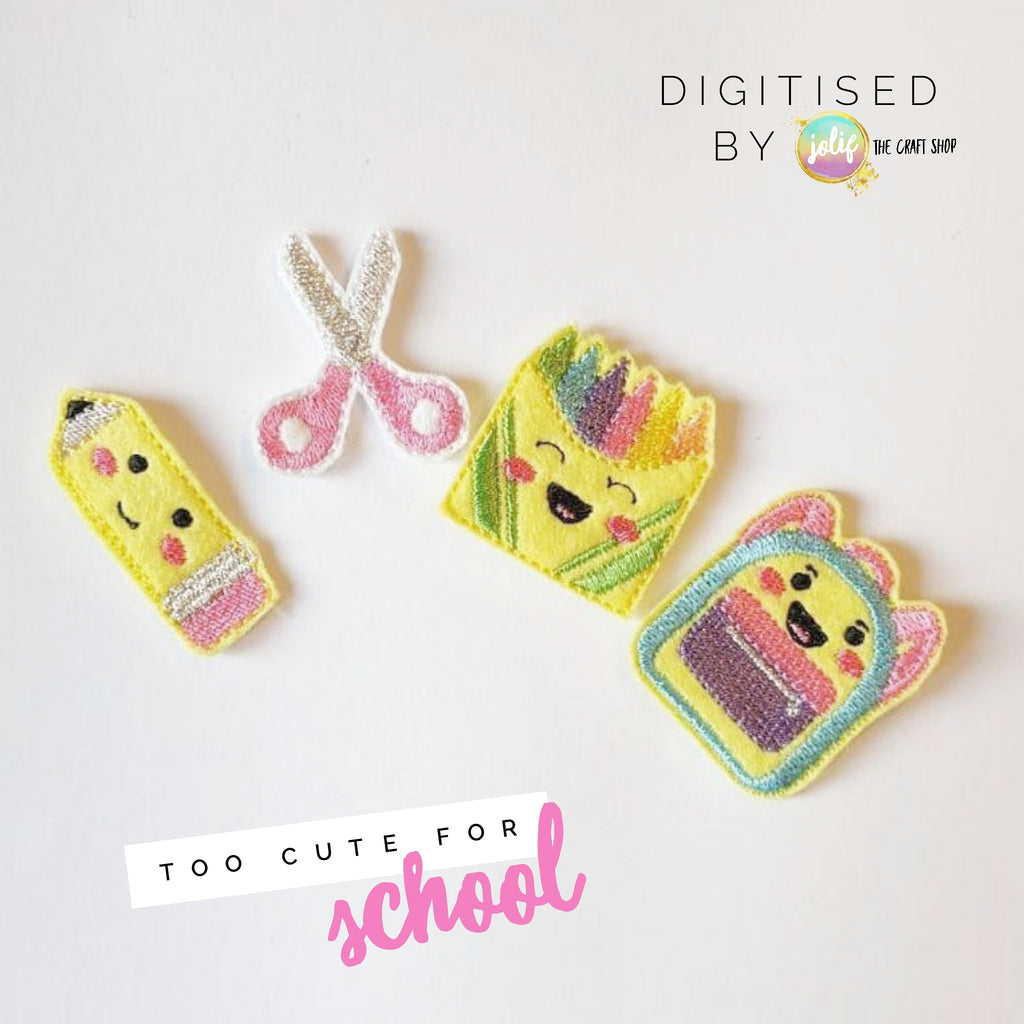 Too Cute for School Felties - Jolif The Craft Shop