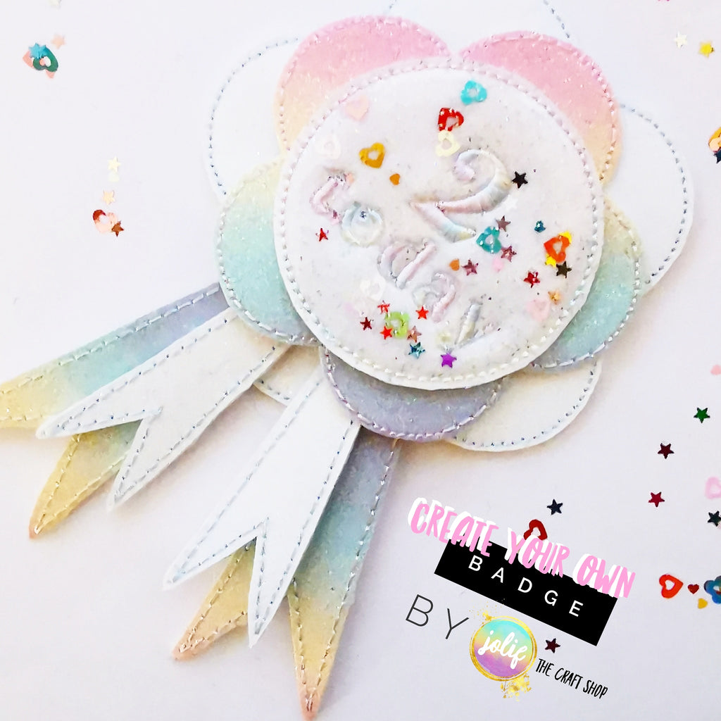 Pastel Rainbow Birthday Badge Kit - Jolif The Craft Shop