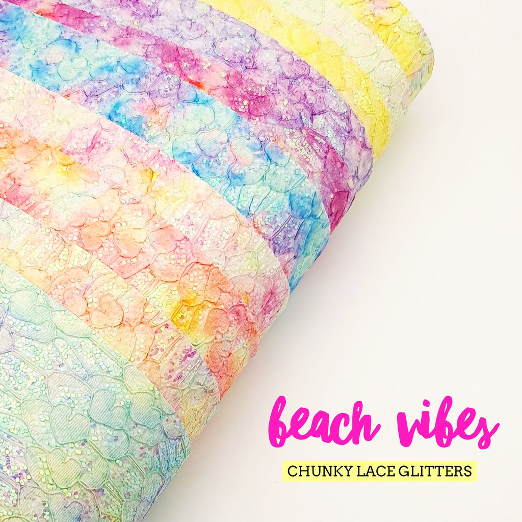 Beach Vibes Chunky Lace Glitters - Jolif The Craft Shop