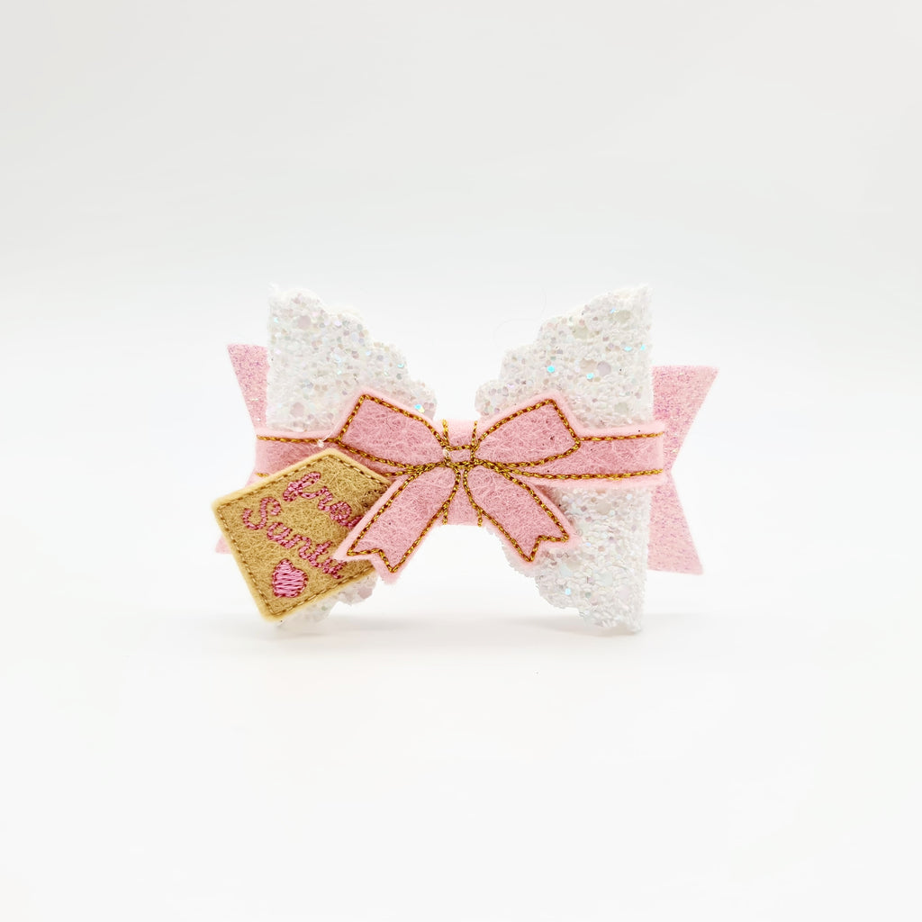 Gift Wrapped Bow Wrap and Gift Tag Feltie - Jolif The Craft Shop