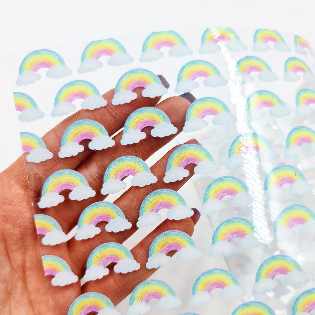 Rainbows Transparent Vinyl - Jolif The Craft Shop