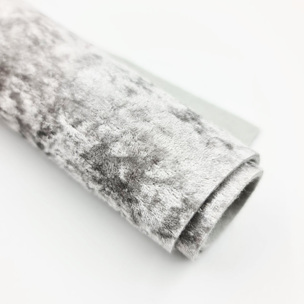 Silver Crushed Velvet - Jolif The Craft Shop