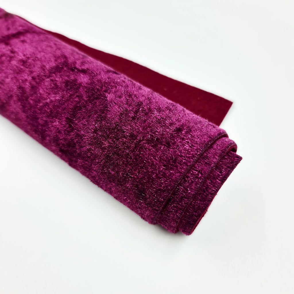 Plum Crushed Velvet - Jolif The Craft Shop