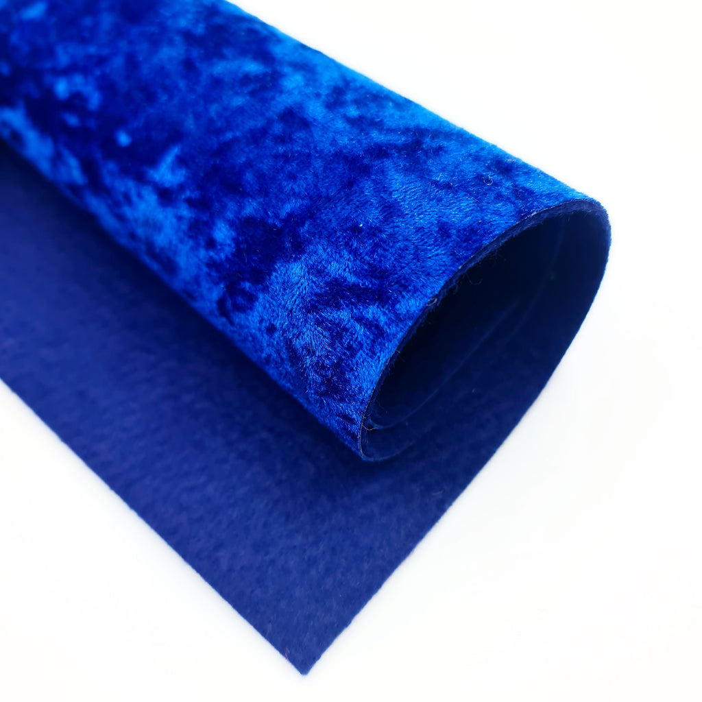 Royal Blue Crushed Velvet - Jolif The Craft Shop