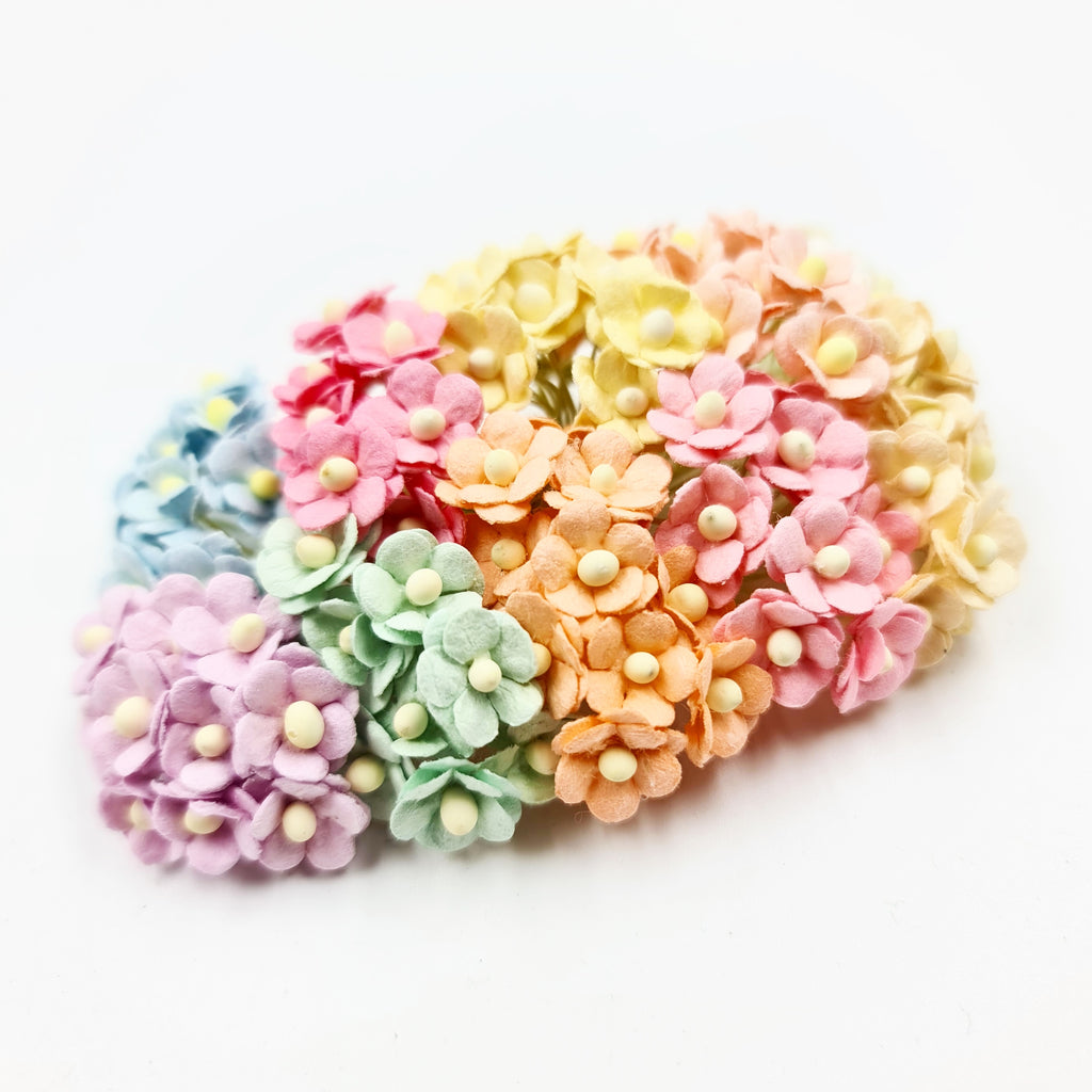 Mixed Miniature Mulberry Sweetheart Blossoms - Jolif The Craft Shop