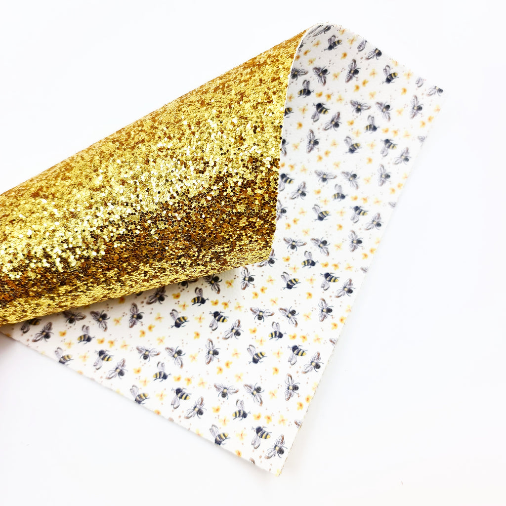 Honey Bee Double Sided Chunky Glitter - Jolif The Craft Shop