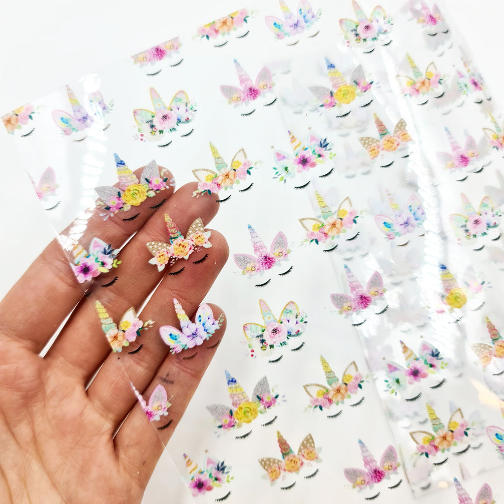 Sleepy Unicorn Transparent Vinyl - Jolif The Craft Shop