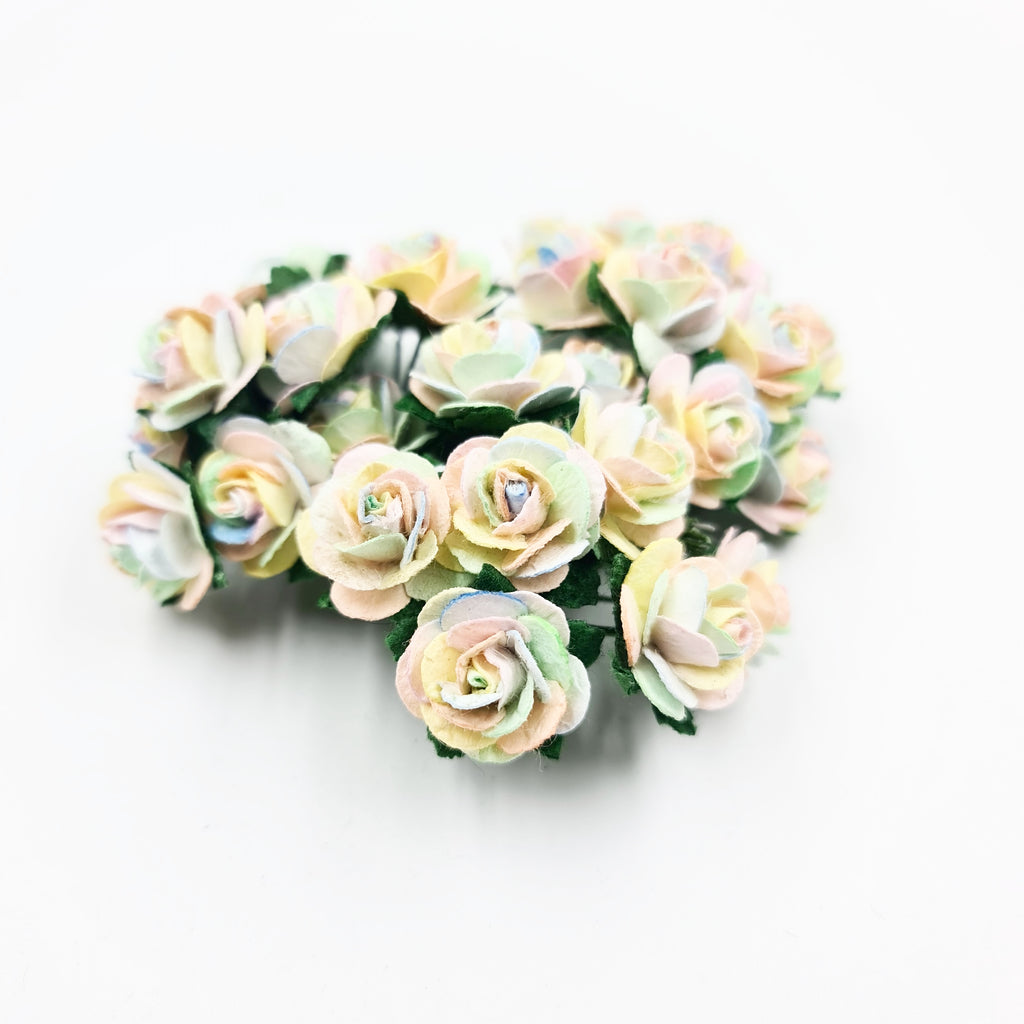 Pastel Rainbow Mulberry Flowers - Jolif The Craft Shop