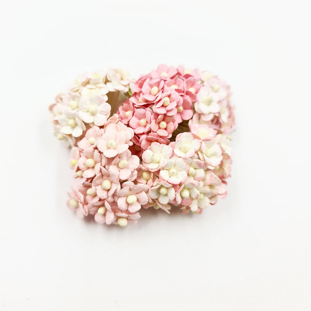 Mixed Pink Miniature Mulberry Sweetheart Blossoms - Jolif The Craft Shop