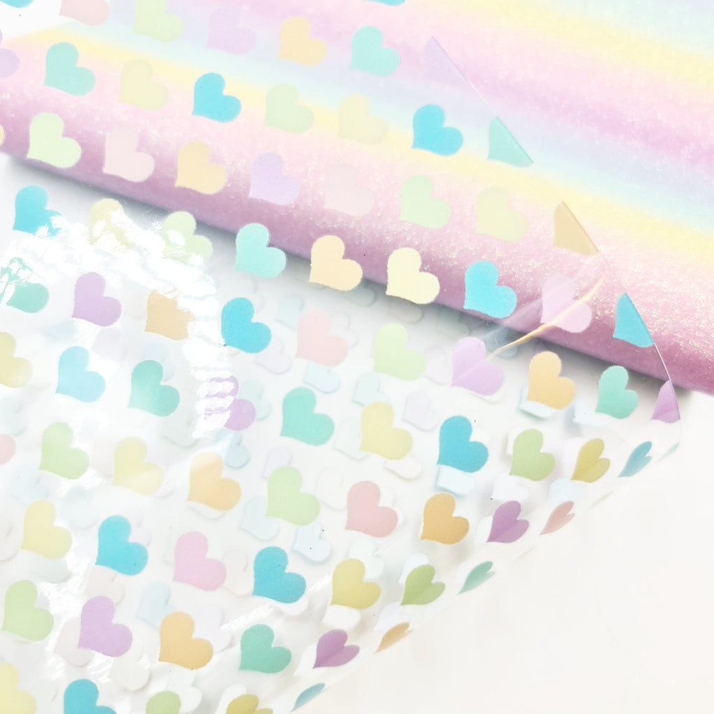 Pastel Hearts Transparent Vinyl - Jolif The Craft Shop