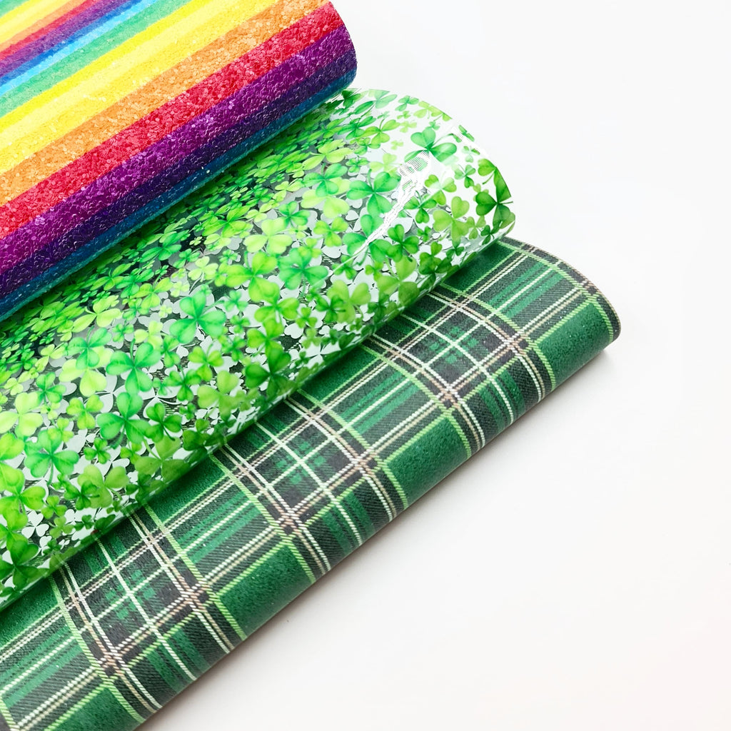 Lucky Rainbow Stripe Chunky Glitter - Jolif The Craft Shop