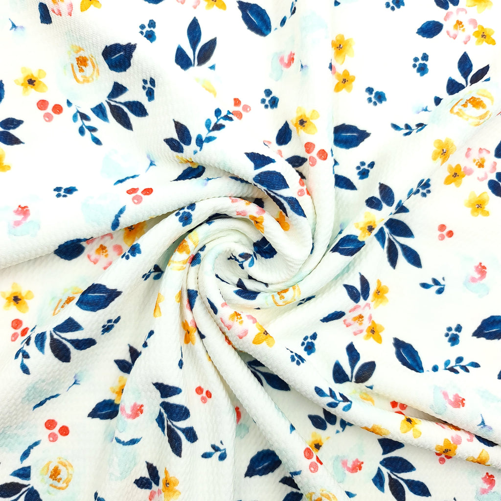 Country Garden White Artisan Bullet Fabric - Jolif The Craft Shop